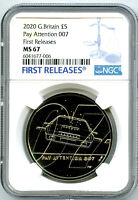2020 GREAT BRITAIN 5PND JAMES BOND 007 PAY ATTENTION NGC MS6