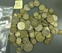 LOT: 118 WORLD SILVER COINS .650 300 GRAMS A VARIETY OF COUN