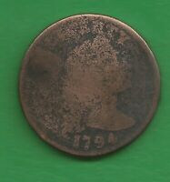 1794 LIBERTY CAP LARGE CENT   227 YEARS OLD