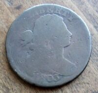 1803 1C BN DRAPED BUST LARGE CENT FULL BOLD DATE SHOWS CHOCOLATE BROWN COLOR WOW