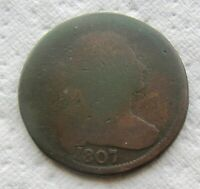 1807 1C BN DRAPED BUST LARGE CENT  DATE BOLD DATE SHOWS