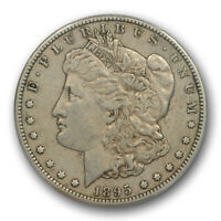 1895 S $1 MORGAN DOLLAR PCGS EXTRA FINE  45 EXTRA FINE TO AU CAC APPROVED
