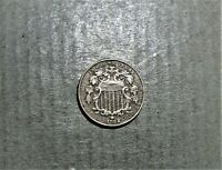 1882 SHIELD NICKEL, RE-PUNCHED DATE VF/EXTRA FINE /US COINS, NICKELS/CIRCULATED/ERROR TL2