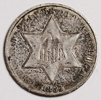 1859 3 CENT SILVER.   NATURAL UNCLEANED  EXTRA FINE .   158601