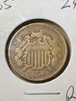 1865 TWO CENT. BJM