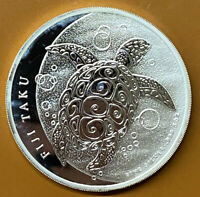 2013 FIJI ISLANDS $10 TAKU SEA TURTLE .999 5 OZ SILVER COIN