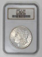 MORGAN SILVER DOLLAR 1897 S NGC MINT STATE 64