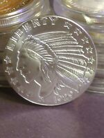 1929 INCLUSE INDIAN/EAGLE 1 OZ .999 FINE SILVER  REAL BEAUTY