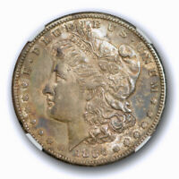 1886 S $1 MORGAN DOLLAR NGC AU 58 ABOUT UNCIRCULATED TO MINT STATE TONED BETT
