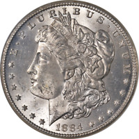 1884-CC MORGAN SILVER DOLLAR NGC MINT STATE 64 GREAT EYE APPEAL  LUSTER  STRIKE