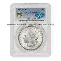 1884-CC $1 SILVER MORGAN DOLLAR PCGS MINT STATE 66 CAC CERTIFIED CARSON CITY GEM GRADED