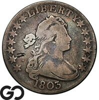 1803 DRAPED BUST HALF DOLLAR VG/FINE EARLY COLLECTOR SILVER