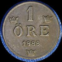 SWEDEN 1888 1 ORE OLD WORLD COIN