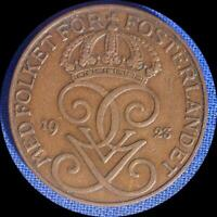 SWEDEN 1923 5 ORE OLD WORLD COIN