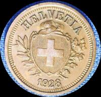 SWITZERLAND 1928 1 RAPPEN OLD WORLD COIN HIGH GRADE RE PUNCHED DATE
