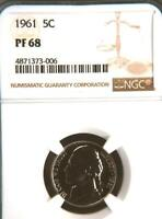 USA 1961 NICKEL PROOF 68 NGC   WOULD YOU PAY $17 625 FOR THIS? I HOPE NOT BUT