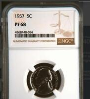 USA 1957 NICKEL PROOF 68 NGC   WOULD YOU PAY $4.312 FOR THIS? I HOPE NOT BUT