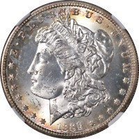 1889-S MORGAN SILVER DOLLAR NGC MINT STATE 65 GREAT EYE APPEAL STRONG STRIKE