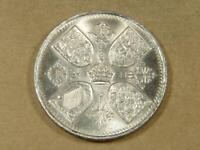 1953 GREAT BRITAIN 5 SHILLINGS CROWN COIN