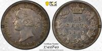 CANADA 1891 10 CENTS 22 LEAVES PCGS XF DETAILS CLEANED