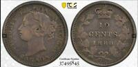 CANADA 1888 10 CENTS PCGS VF DETAILS CLEANED