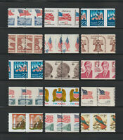 US EFO ERROR STAMPS: COLLECTION OF 15 DIFF. MISPERFED COIL P