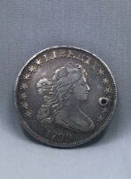 1799 SILVER DOLLAR DRAPED BUST HOLED