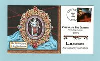U.S. FDC 3188 HAND PAINTED COLLINS CACHET   LASERS CELEBRATE