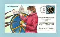 U.S. FDC 3188 HAND PAINTED COLLINS CACHET   THE PEACE SYMBOL
