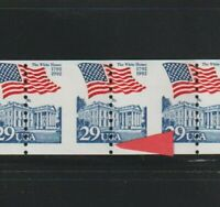 US EFO ERROR STAMPS: 2609 FLAG WHITE HOUSE PERF SHIFT PS8 6