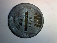 1802 DRAPED BUST CENT COUNTERSTAMPED :EH  BOSTON.  1832  AMEN  1847