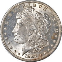 1887-S MORGAN SILVER DOLLAR PCGS MINT STATE 63  EYE APPEAL STRONG STRIKE