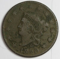 1820 LARGE CENT.  SMALL DATE.  FINE.  161028