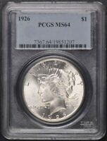 1926 $1 PEACE DOLLAR PCGS MINT STATE 64