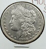 1900 S $1 MORGAN SILVER EAGLE DOLLAR COIN EXTRA FINE  EF DETAILS CLEANED SHINY