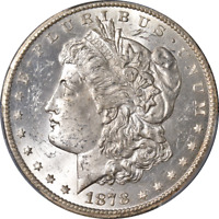 1878-CC MORGAN SILVER DOLLAR PCGS MINT STATE 63 SUPERB EYE APPEAL STRONG STRIKE
