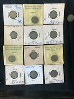 3 CENT NICKEL PIECES  13  COIN LOT