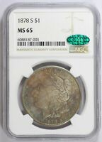 MORGAN SILVER DOLLAR 1878 S NGC MINT STATE 65  CAC
