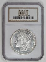 MORGAN SILVER DOLLAR 1878 S NGC MINT STATE 61