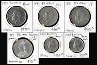 ^^AWESOME^^ SIX BRITISH SILVERS 1887 1933  WITH CAT VALUE $1