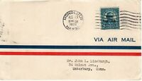 648 5C HAWAII OVERPRINT AIRMAIL ENVELOPE FIRST DAY COVER TO