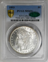 1893 $1 MORGAN DOLLAR PCGS MINT STATE 65 CAC BLAZING ONLY 1 CAC FINER SILVER COIN