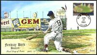 FENWAY PARK   BOSTON RED SOX   COLLINS HAND PAINTED FDC CACH