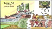 WRIGLEY FIELD   CHICAGO CUBS   COLLINS HAND PAINTED FDC CACH