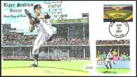 TIGER STADIUM   DETROIT TIGERS   COLLINS HAND PAINTED FDC CA