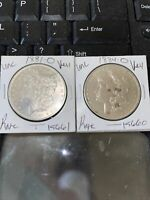 1881-0 & 1884MORGAN SILVER DOLLAR /GRADE BY PICTURE / COIN MAKE AN OFFER