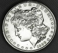 1890-S SILVER DOLLAR.  FULL CHEST FEATHERS.     BU  INVENTORY A