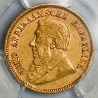 GRADED ABOUT UNCIRCULATED 1896 SOUTH AFRICA BOER REPUBLIC GO