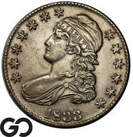 1833 CAPPED BUST HALF DOLLAR TOUGH THIS NICE