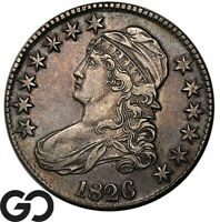 1826 CAPPED BUST HALF DOLLAR EARLY SILVER 50C